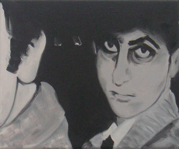 Franz and Elvis, 30x25cm, oil on canvas, 2006