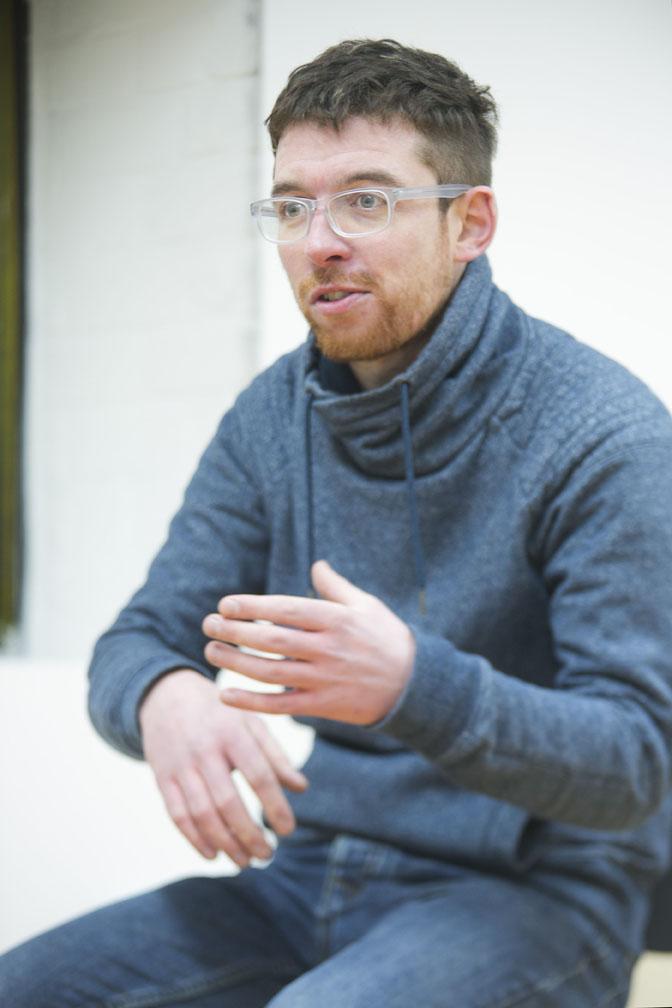 Alan-James Burns performing at 6ix Degrees at IMMA 1